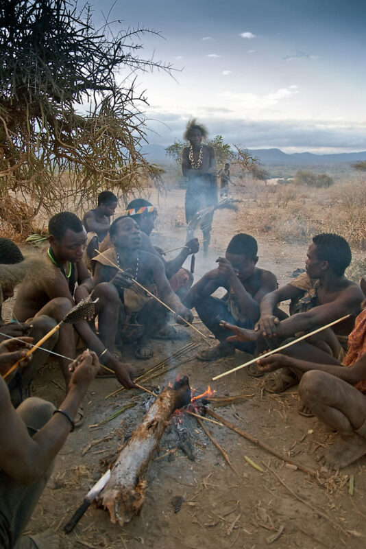 Hadzabe, the last hunters-gatherers . Morning gathering